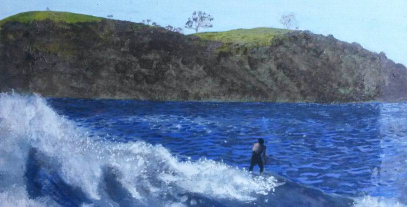 Surfing Sandy Bay