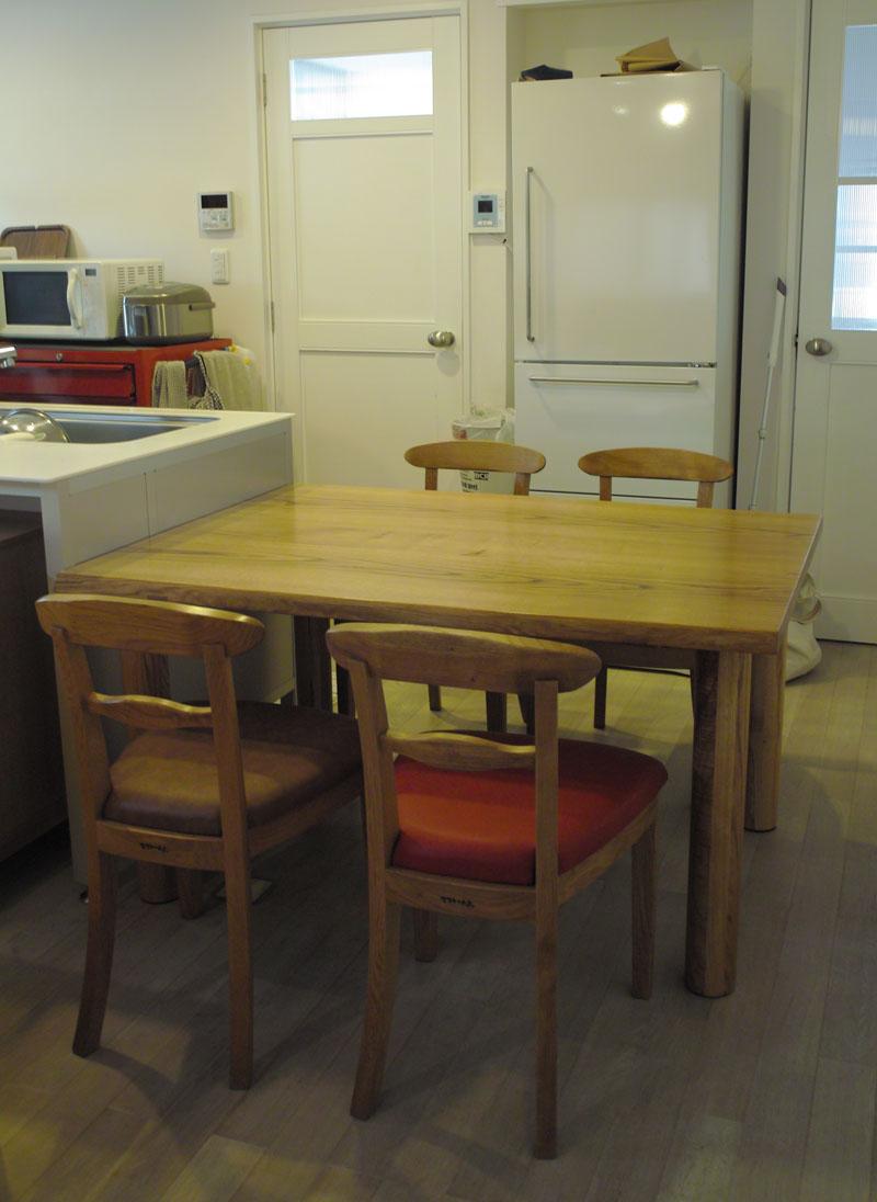 クリのテーブル、tora chair