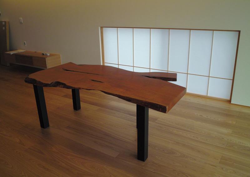 桜一枚板ダイニングテーブル