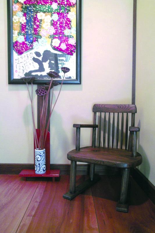 ケヤキの和椅子