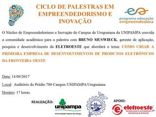Eletroeste Participa do Ciclo de Palestras na Unipampa- Empreendedorismo e Inovação