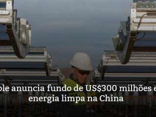 Apple anuncia fundo de US$300 milhões em energia limpa na China