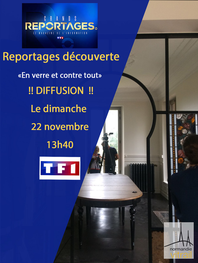 Reportage TV !! #TF1 #normandievitrail #ludivinerougeolle #création
