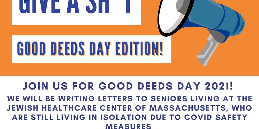 Give a Sh*T: Good Deeds Day Edition!