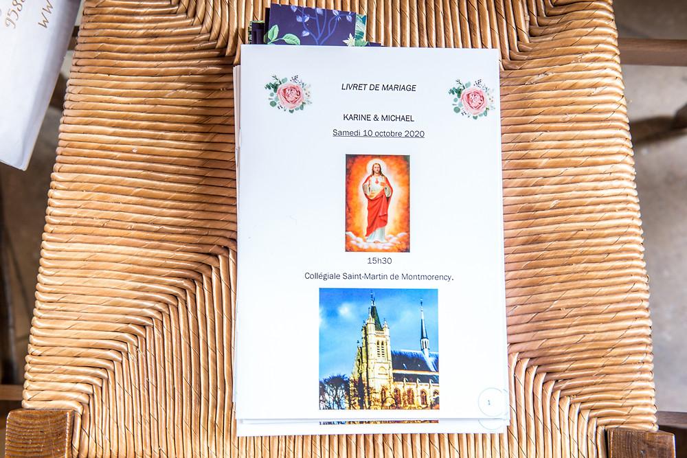 photographe de mariage - montmorency - collégiale - 95 - val d'oise - livret de mariage