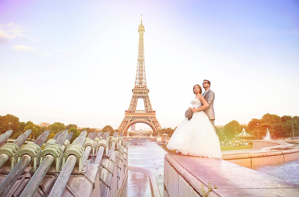 photo de mariage - photographe 95 - val d'oise - paris - 75 - vieophoto-pro.com - tour eiffel - trocadero