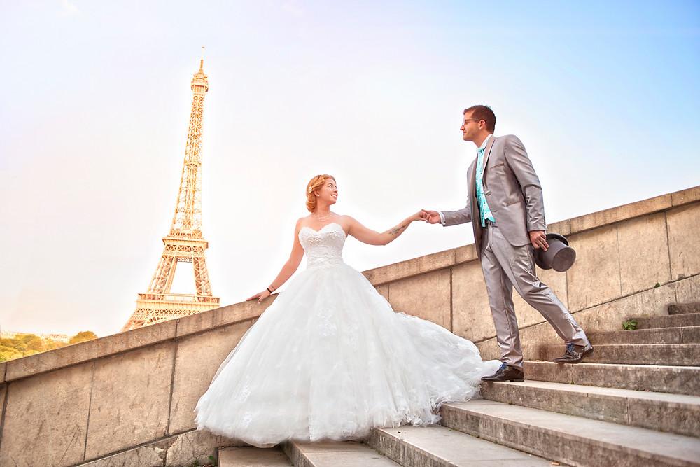 photo de mariage - photographe 95 - val d'oise - paris - 75 - vieophoto-pro.com - tour eiffel
