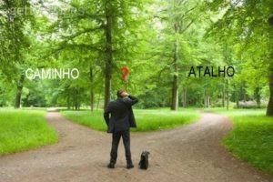 escolha entre atalho e caminho