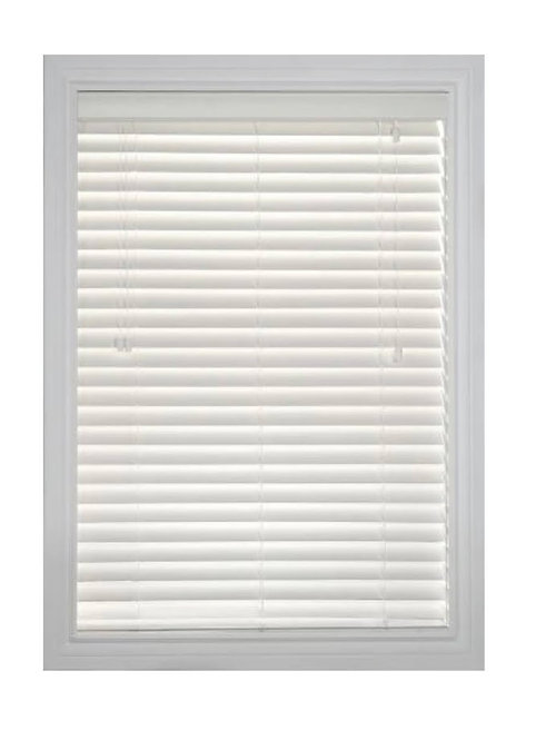 """Shade-O-Matic Faux Wood 2"""" Blind in Pearl"""