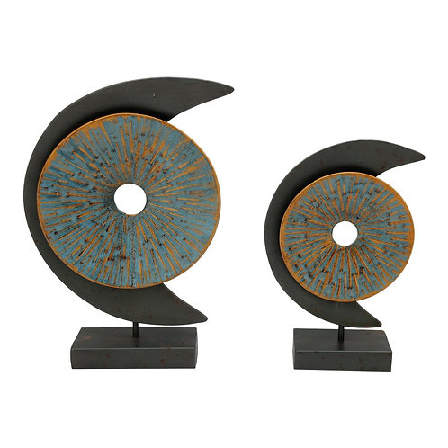 Moe's Home Blue Moon Sculpture Set of 2