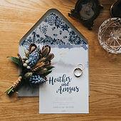 Glen Coe wedding invitation