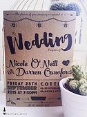 Vintage weddin invitation