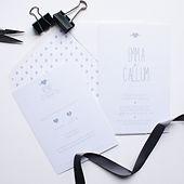 Squiggles wedding invitation