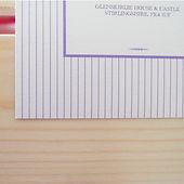 Pinstripe wedding invitation