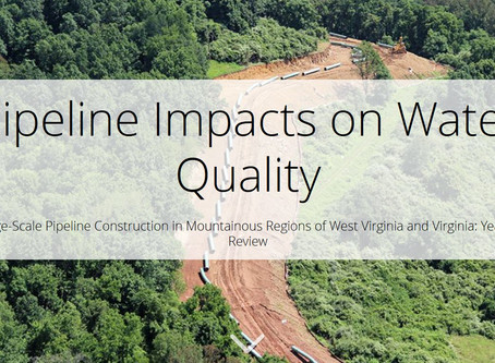 New Story Map from CSI partners Trout Unlimited & WV Rivers: Pipeline Impacts on Water Quality