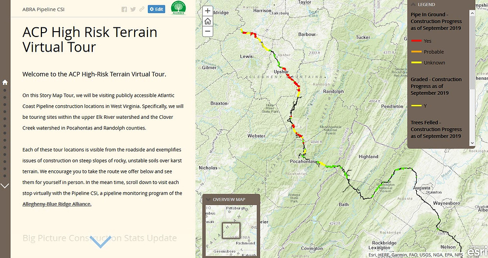 ACP High Risk Terrain Virtual Tour Story Map