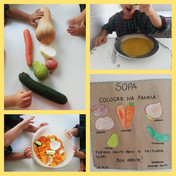 Hoje fizemos uma sopa deliciosa