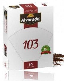 Filtro Alvorada 103, reutilizável 5x, - Filtro para Café. 30unid