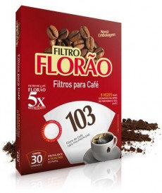 Filtro Florão 103, reutilizável 5x, - Filtro para Café. 30unid