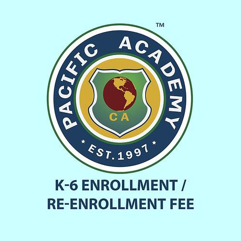 K-6 Enrollment/Re-enrollment Fee