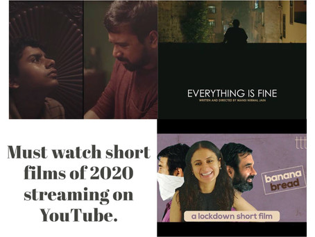 Must watch short films of 2020 streaming on YouTube.