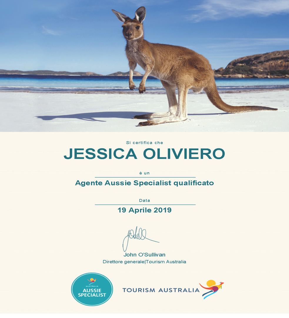 Aussie specialist Australia Jessica Oliv