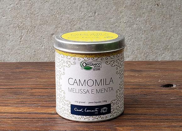 Chá de camomila melissa e menta - Lata 100g