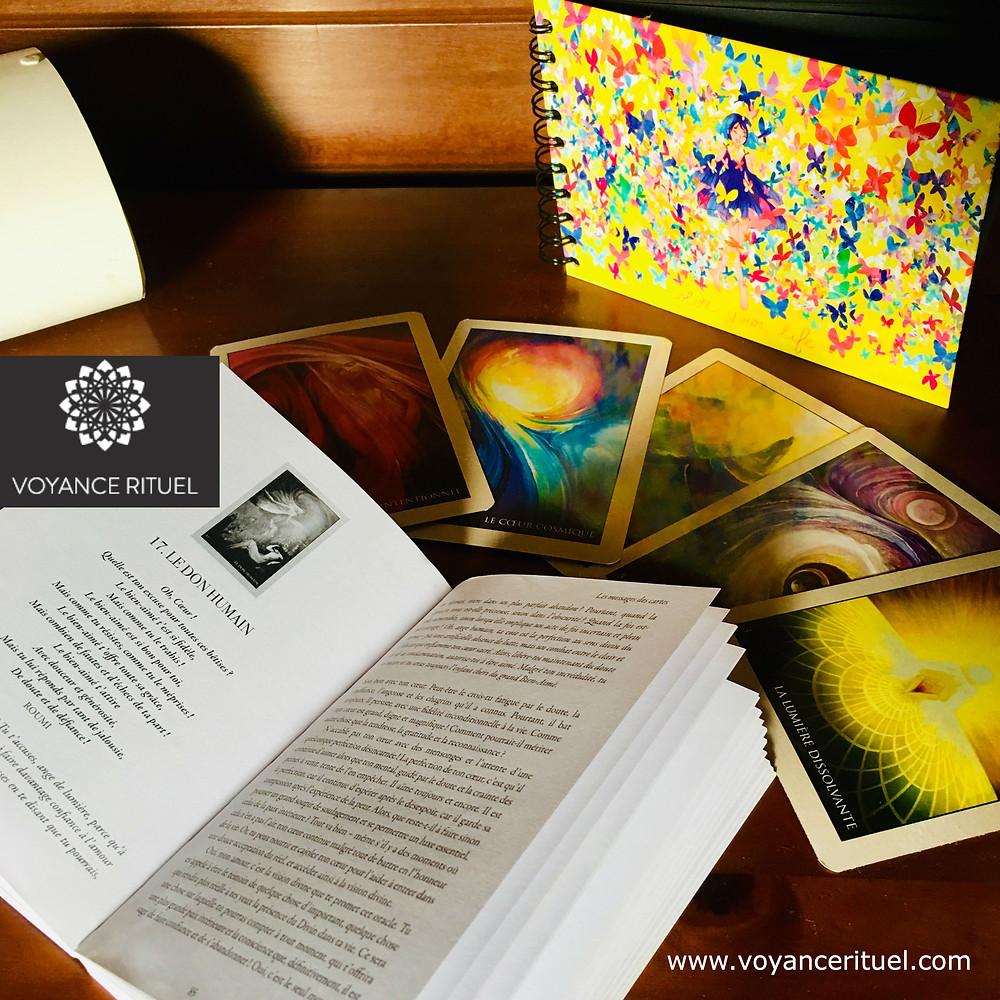 Voyance rituel valérie oracle amour cartes divination messager