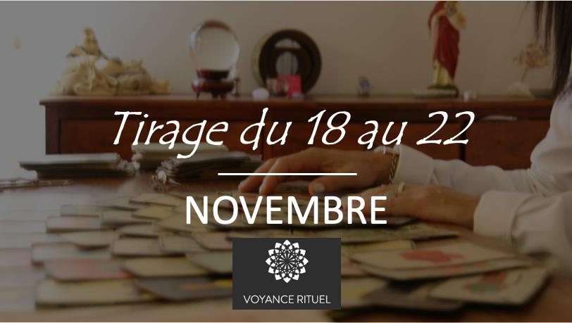 Tirage tarot semaine du 18 au 22 novembre 2019