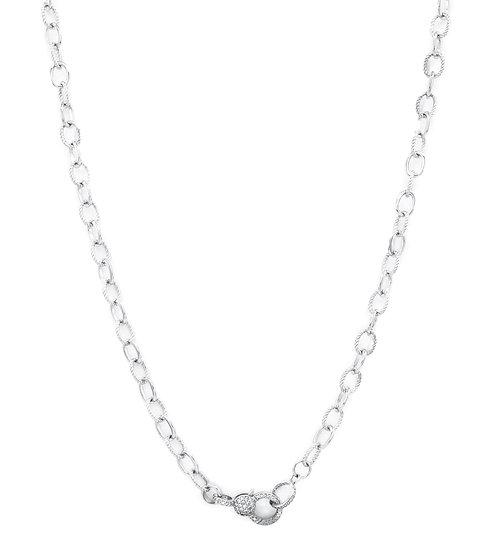 Chain of Love 036 - Medium Link - Rhodium