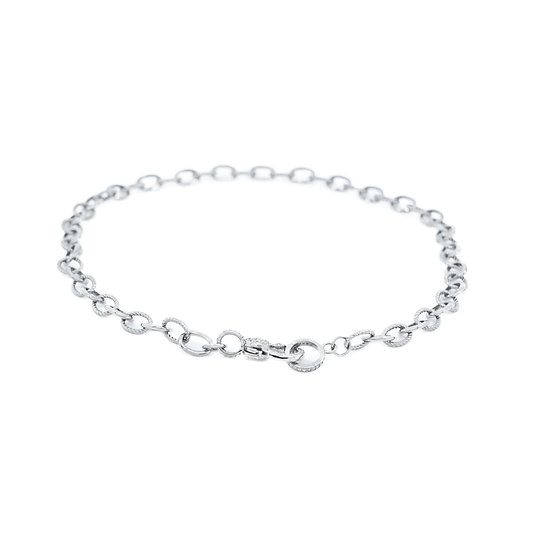 Chain of Love 016 - Medium Link - Rhodium
