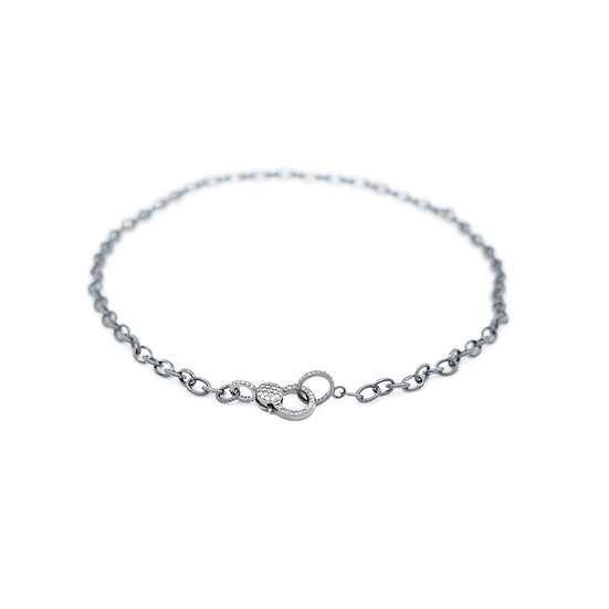 Chain of Love 016 - Small Link - Black Rhodium