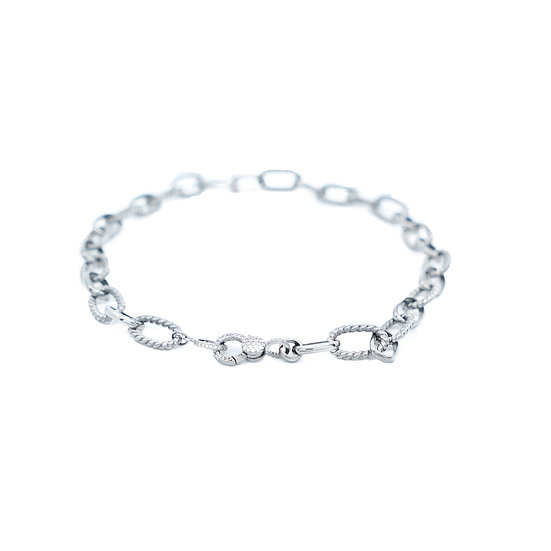 Chain of Love 016 - Large Link - Black Rhodium