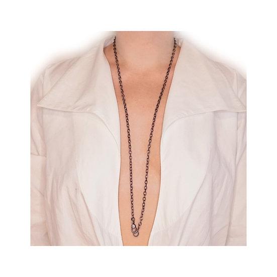 Chain of Love 036 - Small Link - Black Rhodium