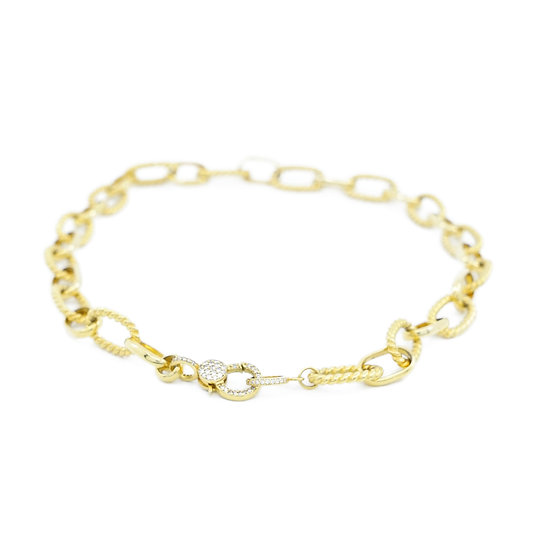 Chain of Love 016 - Large Link - Yellow Gold