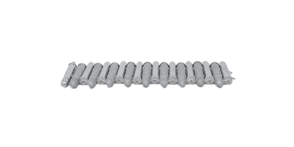 Elektra Multi Pavé CZ Cap Bracelet