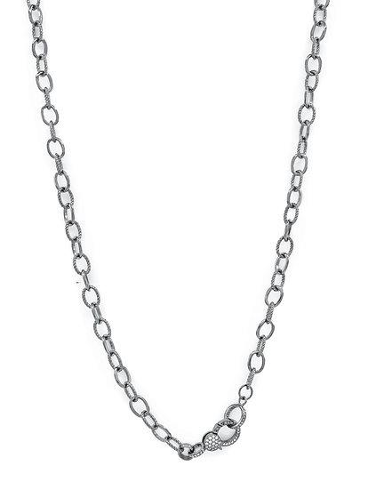 Chain of Love 036 - Medium Link - Black Rhodium