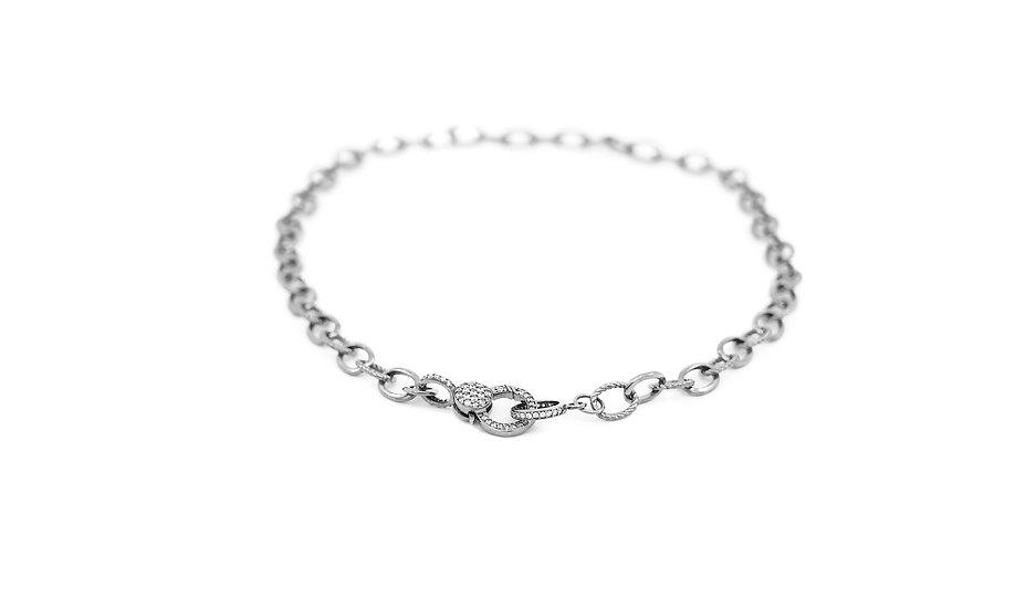 Chain of Love 016 - Medium Link - Black Rhodium