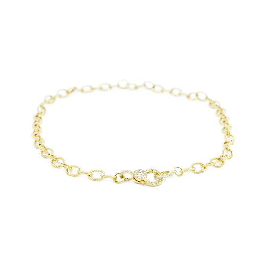 Chain of Love 016 - Medium Link - Yellow Gold