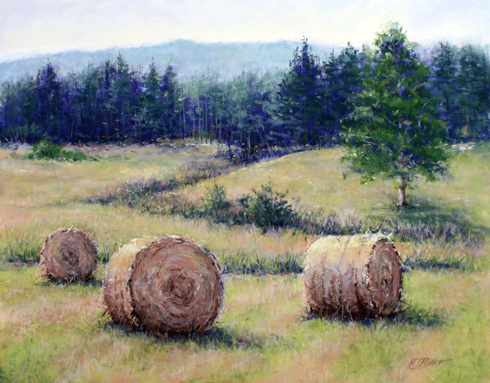 Hay Bales on Hill's Farm