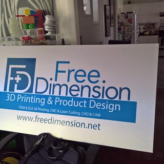 FreeDimension Display Sign