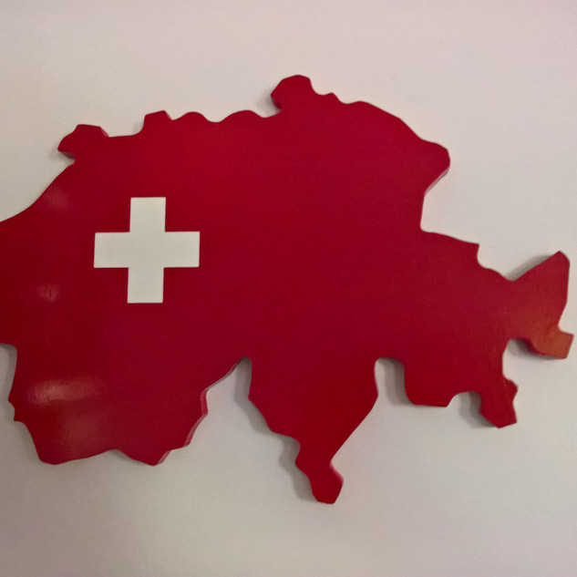 Switzerland Silhouette CNC cut
