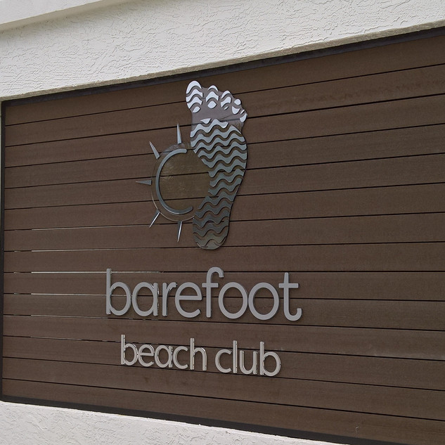 Barefoot Beach Club Sign