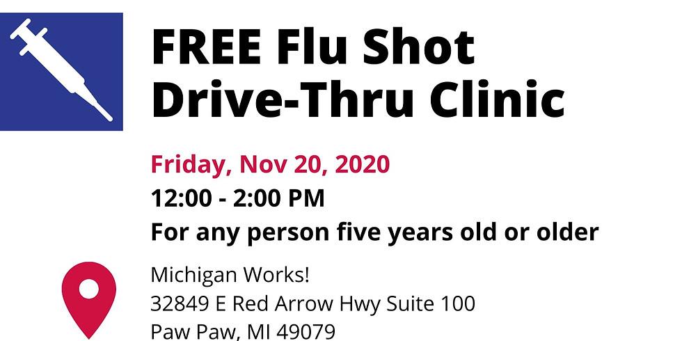 FREE Flu Shot Drive-Thru Clinic - Michigan Works Paw Paw