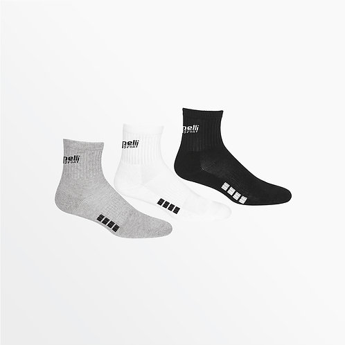 BASICS CUSHIONED COMFORT QUARTER TOP SOCKS