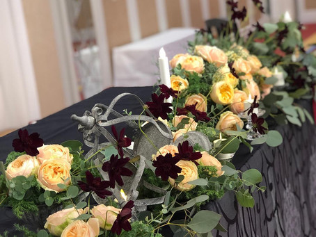宝塚大劇場雪組公演『ファントム』に出演されている永久輝せあさんのお茶会の装花
