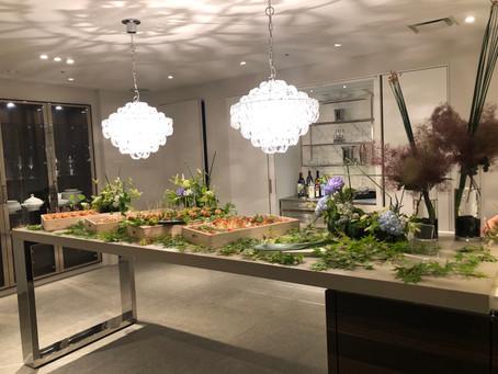 ケータリングのテーブル装花(フォトギャラリー)