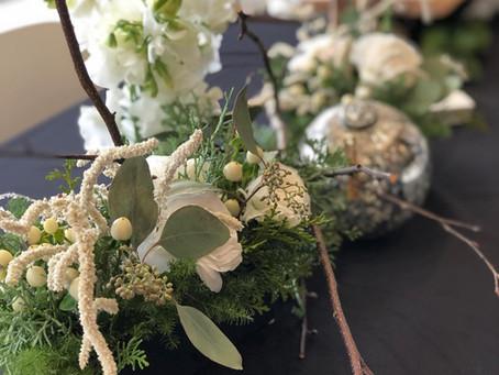 ネッツカフェ(ネッツテラス夙川)でレッスンのテーブル装花レポート