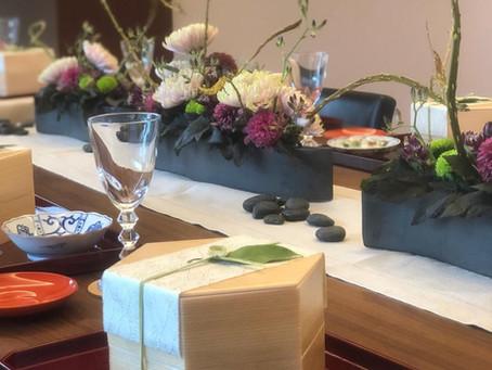 テーブル装花を担当