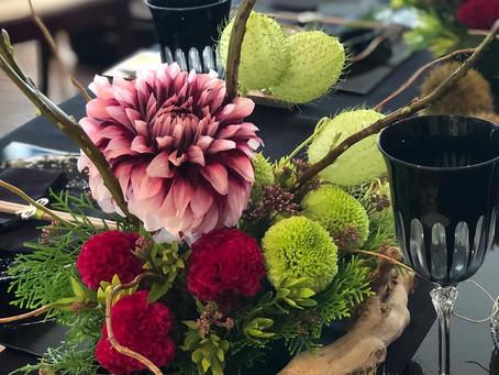 『Nancy's cooking salon』での…「秋のテーブルを彩る、テーブルフラワーアレンジメントとテーブルコーディネートレッスン」レポートです。
